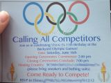 Olympic Party Invitations Olympic themed Birthday Party Pinterest Addict