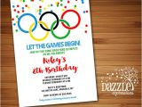 Olympic Party Invitations Printable Kids Olympic Games Birthday Invitation Free