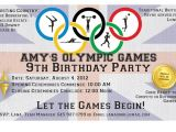 Olympic themed Birthday Party Invitations Dobber Blog 3 Amy 39 S 9th Birthday Party Olympics
