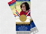 Olympic themed Birthday Party Invitations Lighting