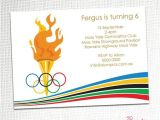 Olympic themed Birthday Party Invitations Olympic Party Invitation Awesome Graphics and Birthday