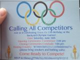 Olympic themed Birthday Party Invitations Olympic themed Birthday Party Pinterest Addict