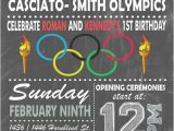 Olympic themed Birthday Party Invitations Olympic themed Invitation Digital or Printed Option