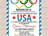 Olympics Party Invitations Printable Items Similar to Printable Olympic Party Invitation On Etsy