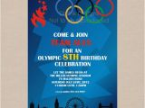 Olympics Party Invitations Printable Items Similar to Sale Olympic Games Party Invitation