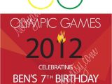 Olympics Party Invitations Printable Olympic Birthday Invitation by Netsyandcompany On Etsy
