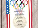 Olympics Party Invitations Printable Olympic Games A Party Invitation Personalized by