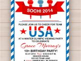 Olympics Party Invitations Printable Printable Olympic Party Invitation by Madeline Lewis