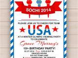 Olympics Party Invitations Printable Printable Olympic Party Invitation by Madeline Lewis