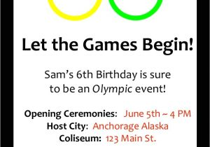 Olympics themed Party Invitations An Olympic Birthday Party Profoundly ordinary
