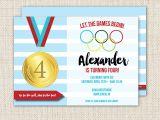 Olympics themed Party Invitations Olympics Birthday Party Invitation Olympics Party Sports