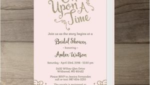 Once Upon A Time Bridal Shower Invitations Ce Upon A Time Bridal Shower Invitations Pink Blush and