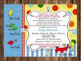One Fish Two Fish Baby Shower Invitations Digital Dr Seuss E Fish Two Fish Baby Shower Invitation