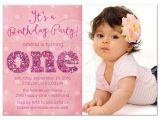 One Year Birthday Invitations Wording 1st Birthday and Baptism Invitations 1st Birthday and