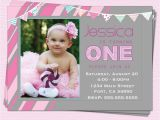 One Year Birthday Invitations Wording 1st Birthday Invitations Girl Modern E Year by Cupcakedream