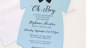 Onesie Baby Shower Invitations for Baby Boy Baby Shower Esie Invitation Blue Shower Invitation Baby