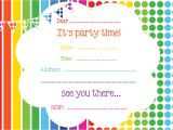 Online Party Invitation Template Free Printable Birthday Invitations Online Free