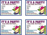Online Party Invitation Template Printable Birthday Invitations Online Free Free