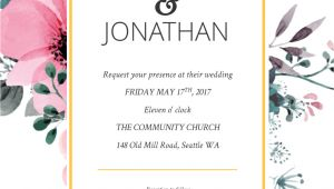 Online Wedding Invitation Template Floral Splash Wedding Invitation Template Free Online