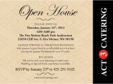 Open House Birthday Party Invitation Wording Act 3 Catering Open House On Thursday event Planning