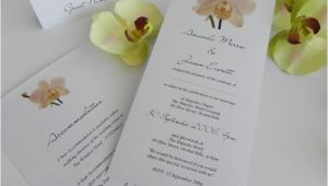 Orchid Wedding Invitation Kits orchid Wedding Invitations to Make Chi On orchid Wedding
