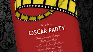 Oscar Party Invitation Template Oscar Party Invitation Template Download Print