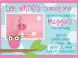 Owl 1st Birthday Invitations Owl 1st Birthday Invitations Ideas – Bagvania Free
