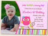 Owl 1st Birthday Invitations Owl Invitations