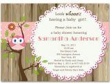 Owl Baby Shower Invitations for Girls Lovely Owl and Tree Brown Baby Girl Shower Invitations Bs238
