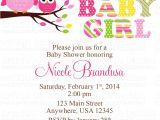 Owl Baby Shower Invitations for Girls Owl Baby Girl Shower Invitations