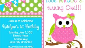 Owl Birthday Party Invites Birthday Party Invitations Girls Owl Birthday Party