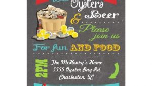 Oyster Roast Birthday Invitations Chalkboard Oyster Roast Party Invitations Zazzle