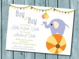 Packs Of Baby Shower Invitations Baby Elephant Shower Invitation 15 Pack