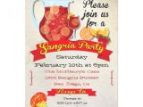 Paella Party Invitations Festive Sangria Party Invitations 5 Quot X 7 Quot Invitation Card
