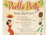 Paella Party Invitations Paella Party Invitation