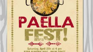 Paella Party Invitations Paella Party Invitation Paella Dinner Invitation by Starwedd
