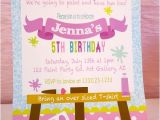 Paint Party Invitation Ideas Art Birthday Party Ideas for Kids Moms Munchkins