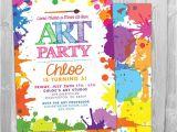 Paint Party Invitation Ideas Art Paint Party Invitations Printable Birthday Invitation