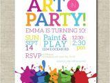 Paint Party Invitation Ideas Art Party Invitation Painting Party Art Birthday Party