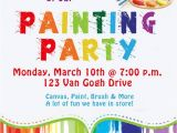 Paint Party Invitation Ideas Birthday Invites Awesome 10 Art Painting Party