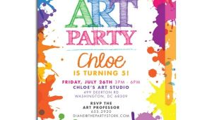 Paint Party Invitation Template 7 Best Images Of Art Party Invitations Printable Paint