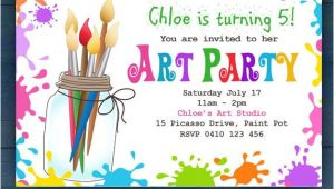 Paint Party Invitation Template Free Editable Printable D I Y Art Party Invitation Children