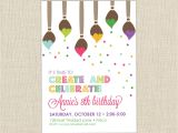 Painting with A Twist Birthday Party Invitations Breathtaking Painting Birthday Party Invitations