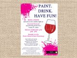 Painting with A Twist Birthday Party Invitations Painting Wine Party Invitation Bachelorette Invitations