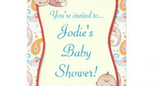 Paisley Baby Shower Invitations Paisley Baby Shower Invitation