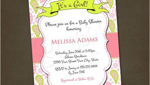 Paisley Print Baby Shower Invitations Pink Paisley Baby Shower Invitations You by Pinkskyprintables