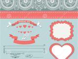 Paisley Wedding Invitation Template Wedding Design Template with Paisley Border Cartoon Hearts