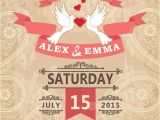 Paisley Wedding Invitation Template Wedding Invitation with Pigeon Couple and Paisley Lace