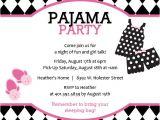 Pajama Party Invitation Template Pajama Party Invitation Templates