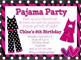 Pajama Party Invitation Template Pyjama Party Invitation Templates
